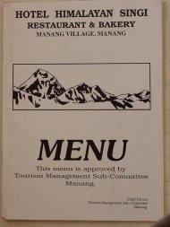okładka menu w jednym z lokali