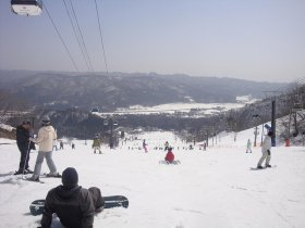 stok narciarski we włoskich Alpach