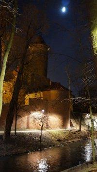 widok na zamek w Poznaniu